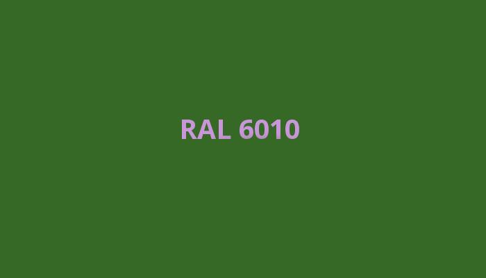 zelená RAL 6010