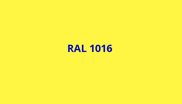 žlutá RAL 1016