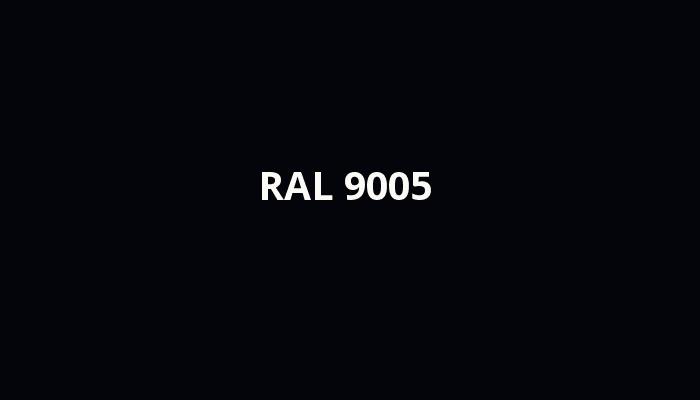 černá RAL 9005