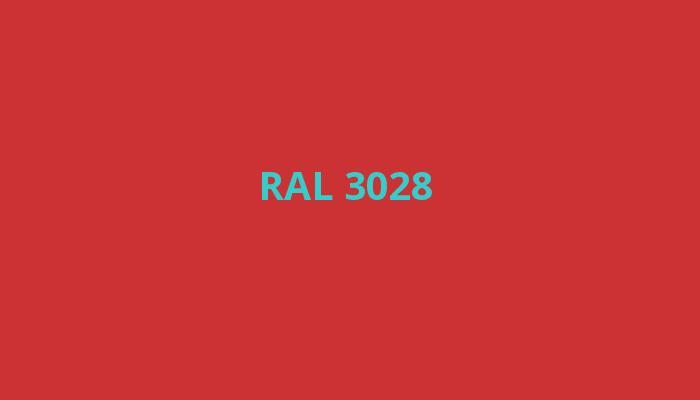 červená RAL 3028