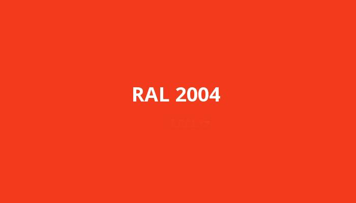 oranžová RAL 2004